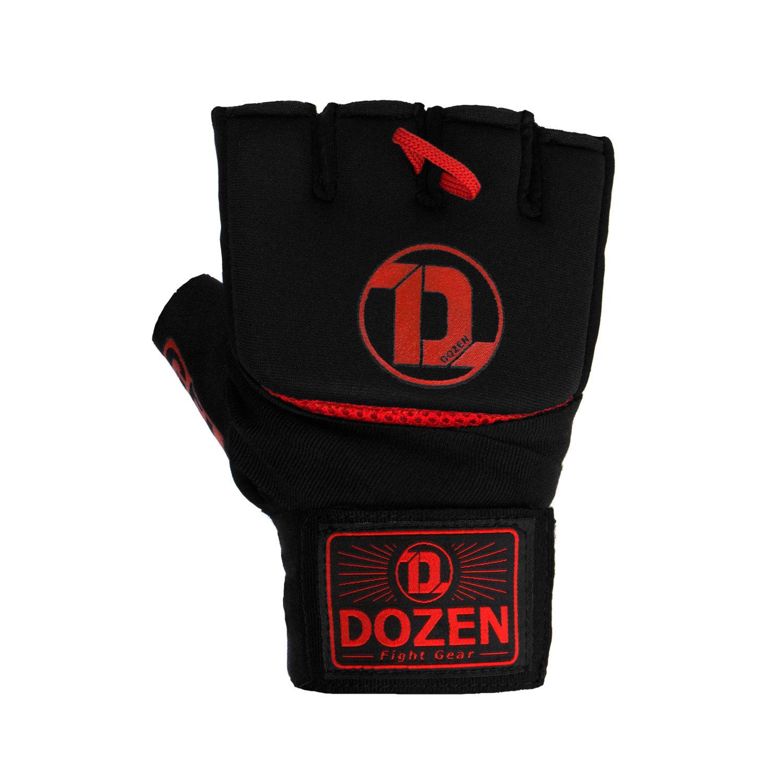 Быстрые бинты черно-красные Dozen Pro Gel-Air Inner спереди