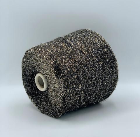 Toscano (пр.Италия),art-Sparkinomil 450м/100гр,100%полиамид,цвет-Черный+серебро/золото.арт.10719
