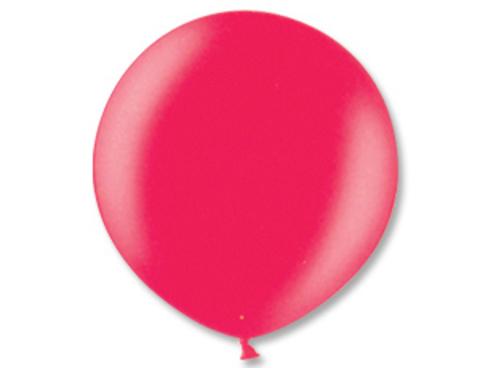 Большой воздушный шар металлик красный
