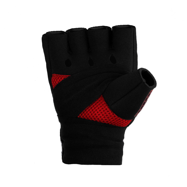 Быстрые бинты черно-красные Dozen Pro Gel-Air Inner ладонь
