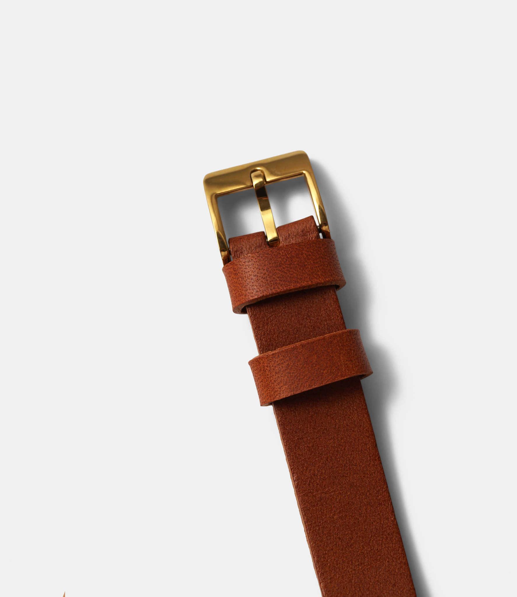 22 Studio Ups & Downs 30mm Cinnamon — часы из бетона
