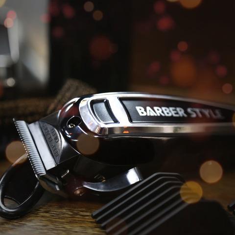 Машинка для стрижки Dewal Barber Style, сетевая, 10 Вт, 6 насадок, черная