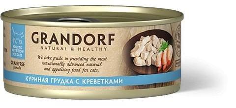 Купить консервы для кошек Грандорф с креветками