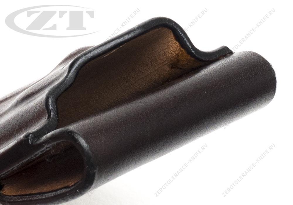 Чехол кожаный ZT 0562 темно-коричневый - фотография