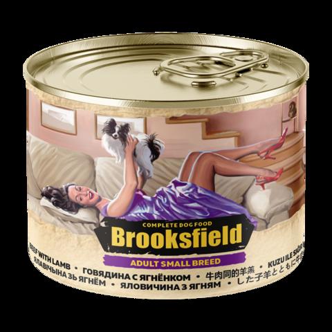 Brooksfield Adult Small Breed Консервы для собак мелких пород с говядиной и ягнёнком (Банка)