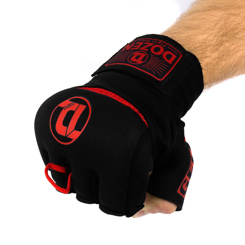 Быстрые бинты черно-красные Dozen Pro Gel-Air Inner сжатый кулак