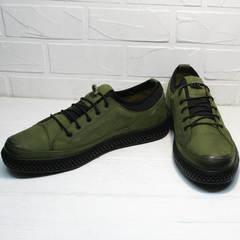Кожаные спортивные туфли мужские кэжуал Luciano Bellini C2801 Nb Khaki.