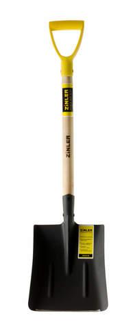 Лопата ZINLER автомобильная совковая песочная (тип1) с деревянным черенком и ручкой