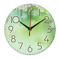 Часы настенные, плавный бесшумный механизм, 28 см