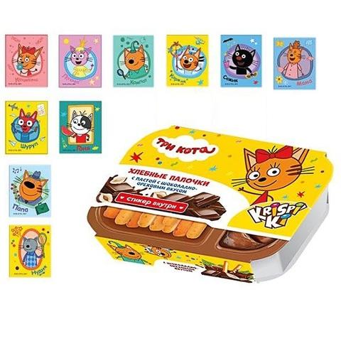ТРИ КОТА  Хлебные палочки с шоколадно-ореховой пастой с сюрпризом 1кор*6бл*6шт, 35г.