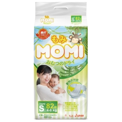Подгузники MOMI, 4-8 кг (S)