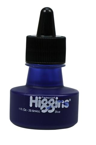 Пигментные чернила HIGGINS BLUE Pigment-Based 1 OZ, 29,6 мл