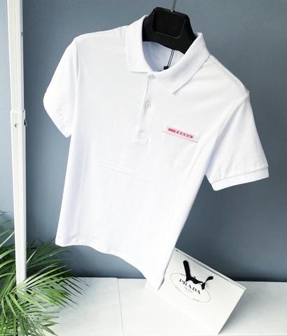 Брендовая футболка с воротником