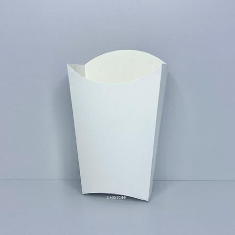 Бумажная упаковка для картошки фри 120х90 мм большая (25 шт.) белая