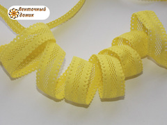 Резинка ажурная для повязок желтая ширина 16 мм