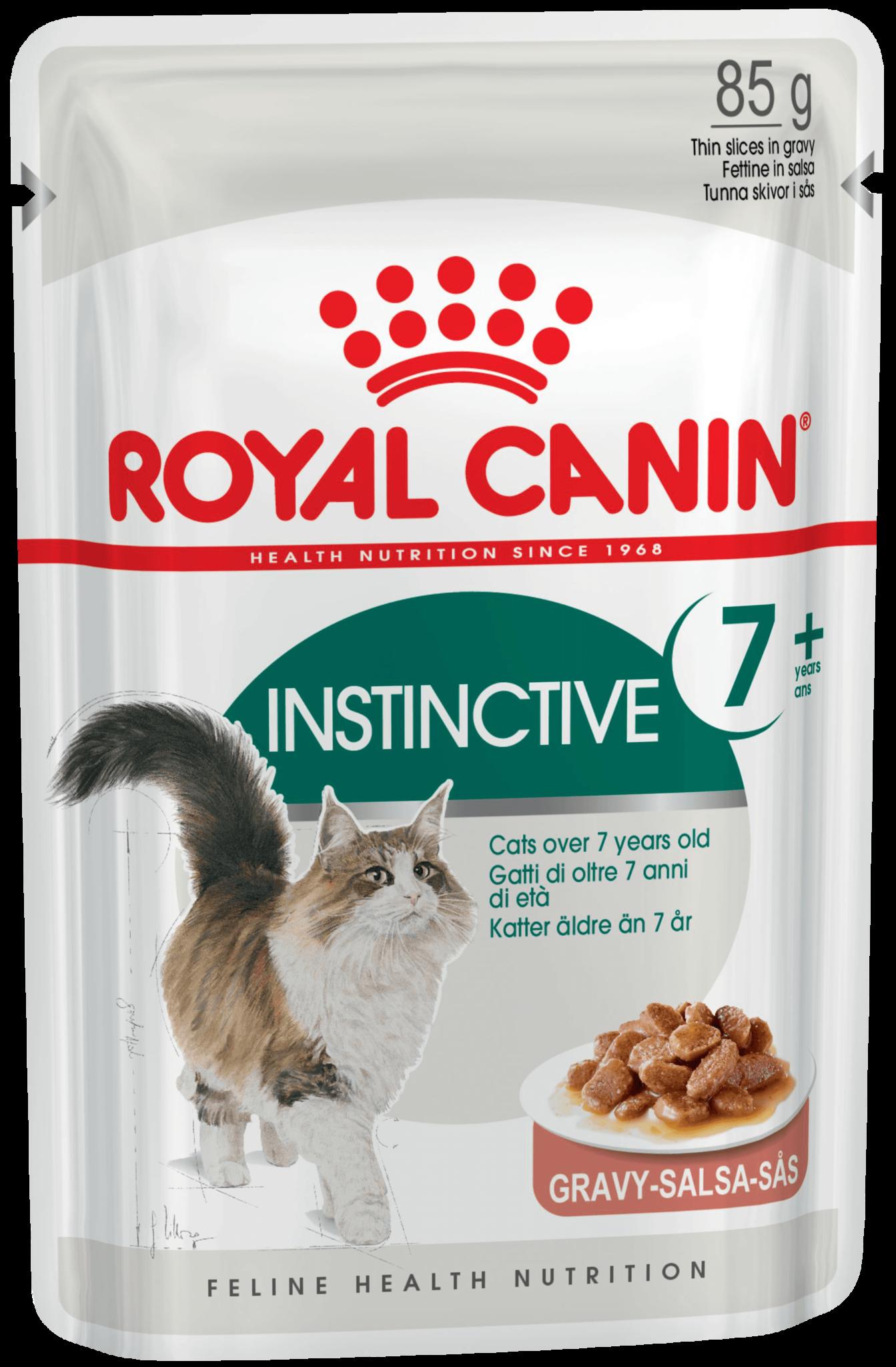 Royal Canin Пауч для кошек, Royal Canin Instinctive +7, помогающий поддерживать жизненные силы кошек старше 7 лет (в соусе) d_instinctive-7_-in-gravy.png