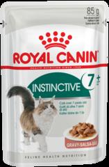 Пауч для кошек, Royal Canin Instinctive +7, помогающий поддерживать жизненные силы кошек старше 7 лет (в соусе)