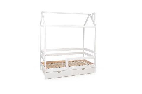 Кровать-домик Scandi Nest с бортиком (одноярусная)