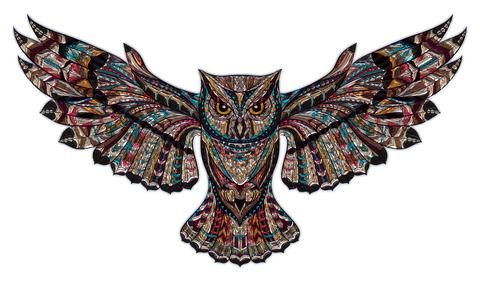 Алмазная Мозаика 30x40 Сова раскинула крылья