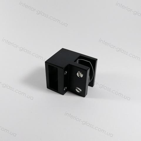 Соединитель труба (штанга) - стекло 90° ST-309 BLK чёрный матовый