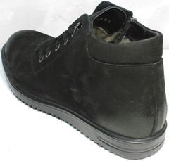 Зимние ботинки на шнуровке мужские Luciano Bellini 71783 Black.