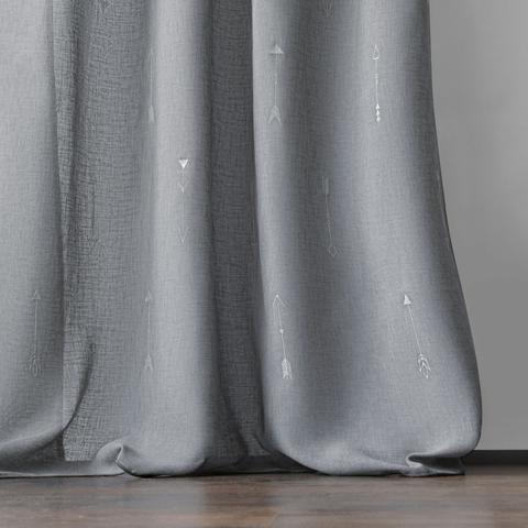 Комплект штор Стрелки с вышивкой серый