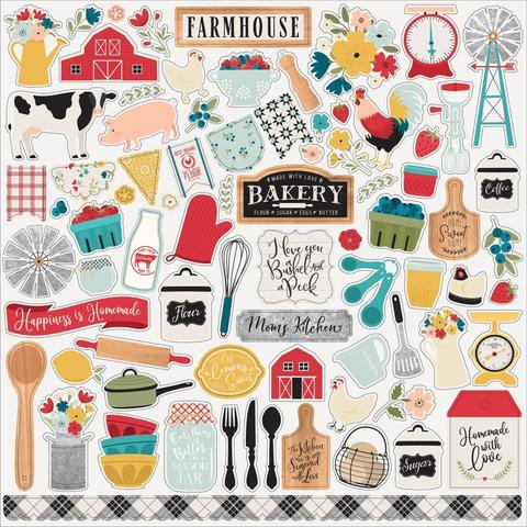 Набор стикеров Farmhouse Kitchen Cardstock Stickers -30х30см