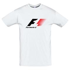 Футболка с принтом Формула-1 (Гонки/ F1/ Formula 1) белая 0021