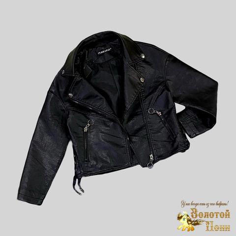 Куртка экокожа девочке (5-9) 210205-J7117