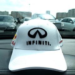 Кепка с вышитым логотипом Инфинити (Бейсболка INFINITI) белая