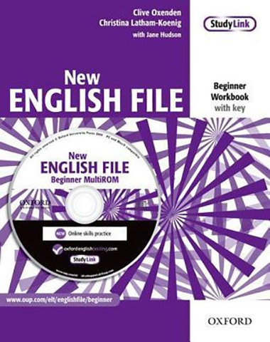 9780194518734 - New  English File Beginner:  Workbook with key and MultiROM Pack