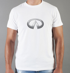 Футболка с принтом Infiniti (Инфинити) белая 007