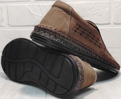 Кожаные слипоны мужские туфли на плоской подошве деловой кэжуал летние Luciano Bellini 91737-S-307 Coffee.
