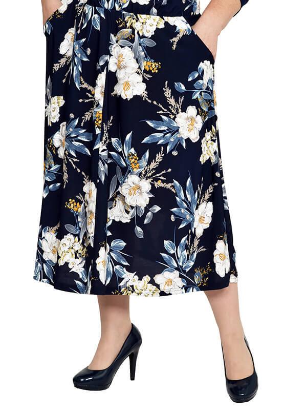 Летняя юбка с цветами большие размеры