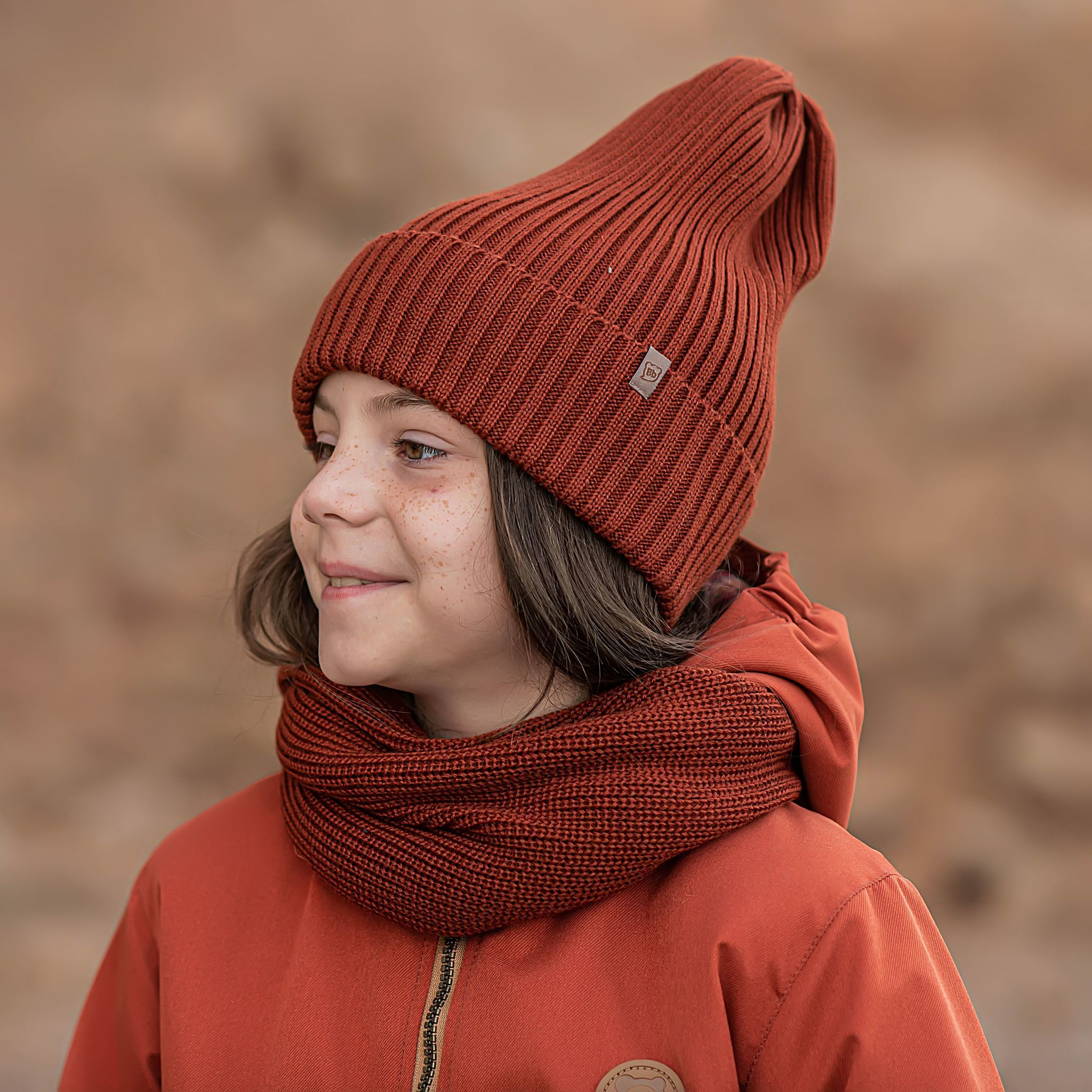 Beanie hat for teens - Paprika
