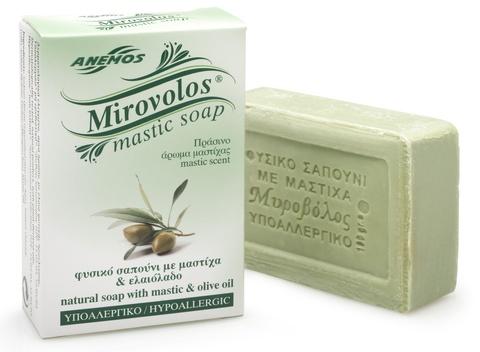 Натуральное мыло с мастикой и оливковым маслом Mirovolos от Anemos 100 гр