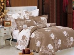 Сатиновое постельное бельё  1,5 спальное Сайлид  В-141