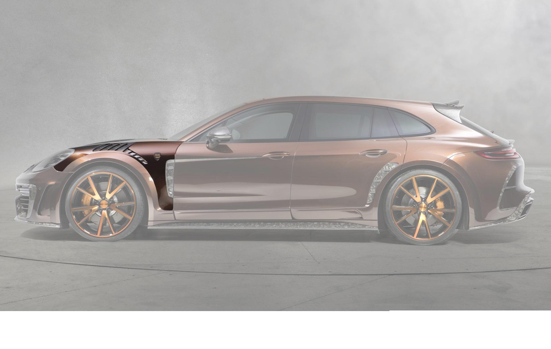 Карбоновые передние крылья Mansory Style для Porsche Panamera