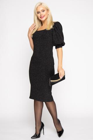 <p>Элегантное, изысканное, стильное платье для роскошной особы. Трикотаж с люрексом придаст изюминку вашему образу.&nbsp;</p>