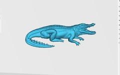 Силиконовый молд № 2131  Крокодил  2 D  Большой