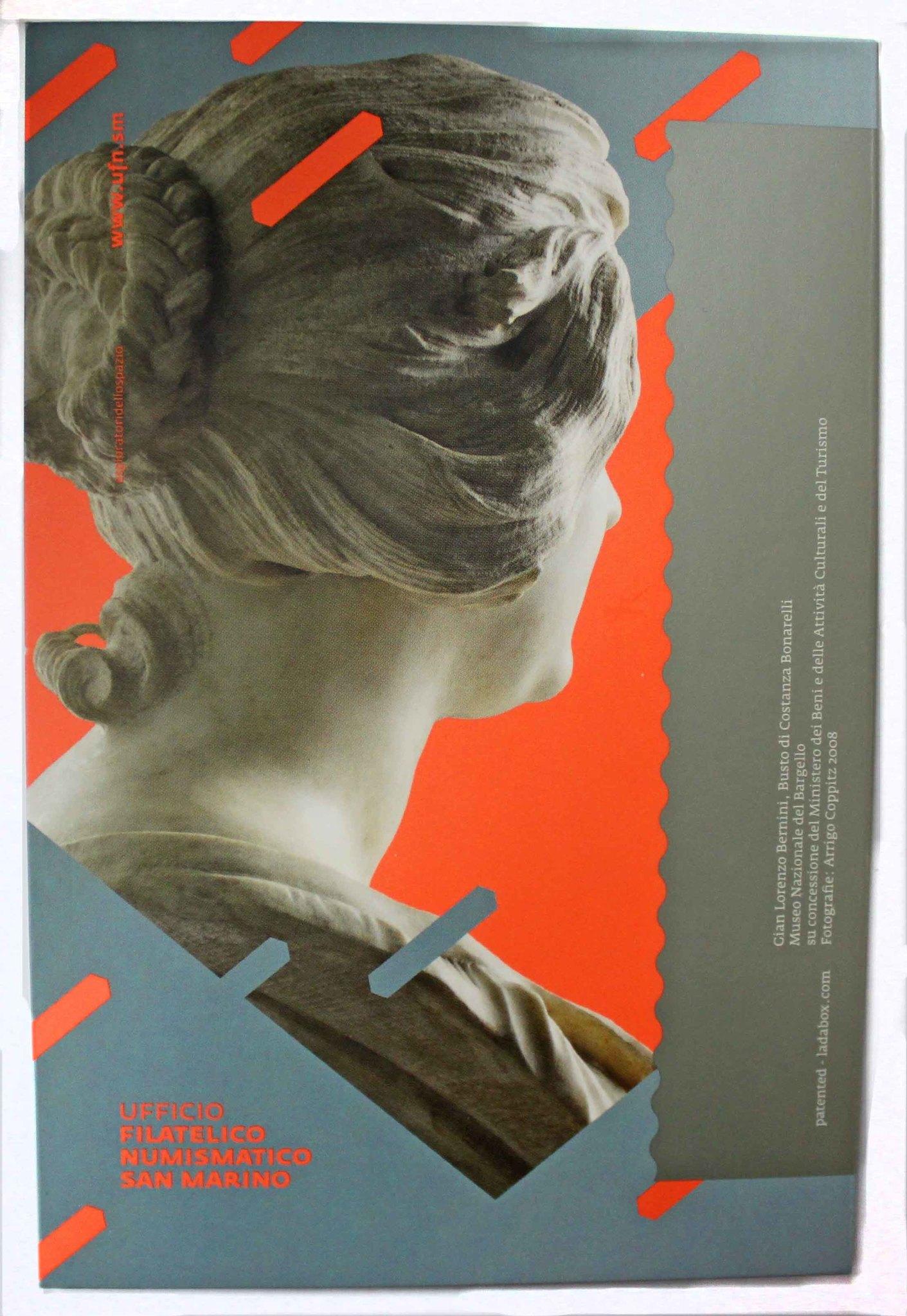 2 евро. Сан-Марино - итальянский скульптор и архитектор Джованни Лоренцо Бернини (в буклете). 2018 год