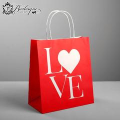 Пакет подарочный «LOVE»