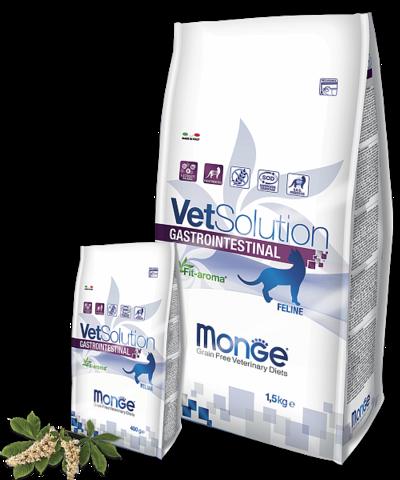 MONGE VETSOLUTION GASTROINTESTINAL для кошек 1,5кг