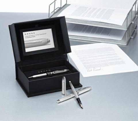 Cross Townsend - 20th Anniversary Platinum Plated, ручка-роллер, M, BL