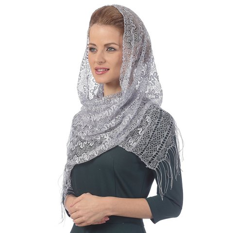 Церковный платок серый