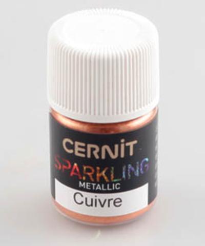Блестящая пудра (блестки) CERNIT, медный металлик