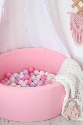 Сухой бассейн Anlipool 100/40см Розовый  комплект №2