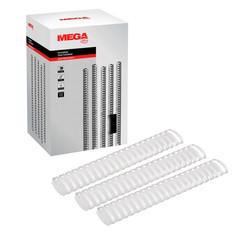 Пружины для переплета пластиковые Promega office 51 мм белые (50 штук в упаковке)