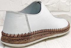 Летние мужские слипоны туфли белые стиль кэжуал мужской Luciano Bellini 91724-S-304 All White.