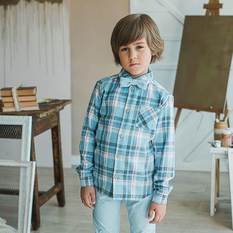 Check flannel shirt for teens - Powder Denim